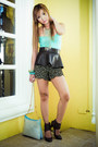 Brown-glitterati-shorts-dark-brown-glitterati-belt