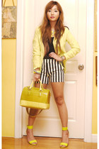 chartreuse Forever 21 blazer