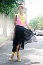 Black-tonic-bag-chartreuse-h-m-heels-chartreuse-h-m-necklace