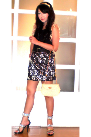 Glitterati top - Glitterati skirt - Gucci purse - zoo shoes - My vollection acce