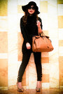 Black-ryu-coat-black-zara-hat-tawny-hermes-bag-black-prada-sunglasses