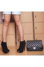 Black-trunk-show-vest-white-topshop-top-blue-mango-shorts-black-chanel-pur