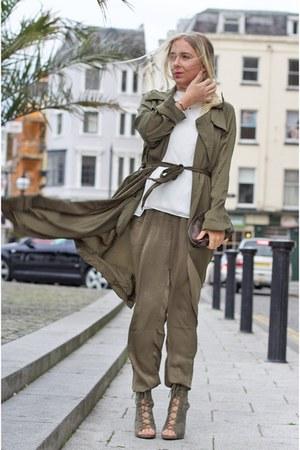 army green silk GIRLS ON FILM panties