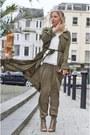 Army-green-silk-duster-girls-on-film-coat