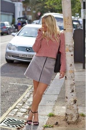 silver Topshop skirt - pink Topshop sweater