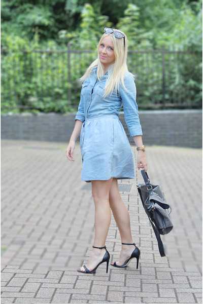 Blue denim look skirt – Modern trending things photo blog