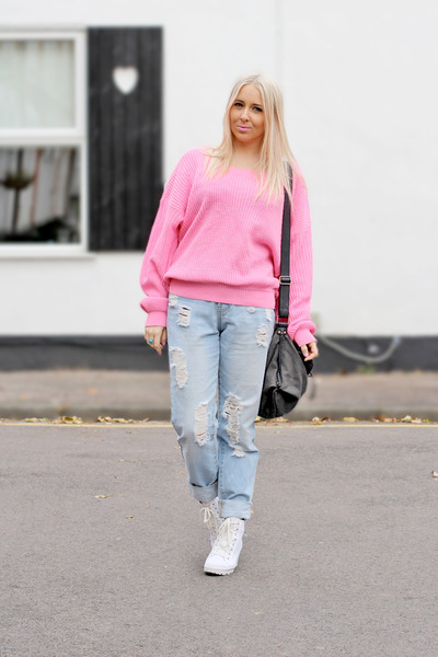 bubble gum Chiara fashion jumper - white Topshop boots