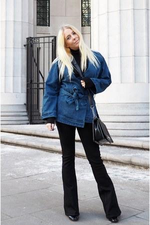 black boy bag Chanel bag - black flares asos jeans
