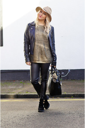 gold gold Fashion Union jumper - black cut out shelikescom boots