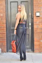black disco Missguided leggings - black sheer asos shirt