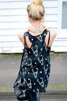 black reindeer print Brat & Suzie shirt