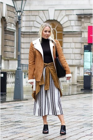 black mules new look shoes - brown searling Missguided coat