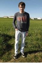 pull&bear jeans - pull&bear sweatshirt - Vans sneakers