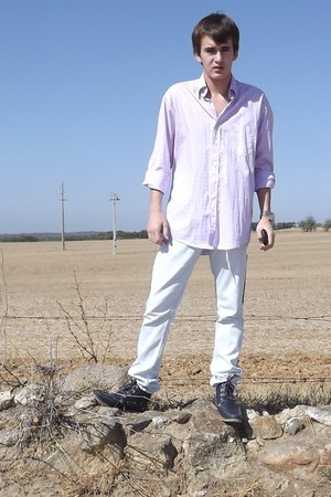 YSL secondhand shirt - H&M boots - pull&bear jeans