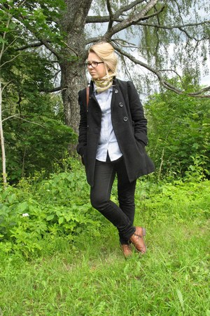 Tommy Hilfiger coat - Mango jeans - lindex shirt - Manlio Bonetti scarf
