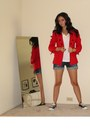 Red-express-blazer-express-shirt-random-denim-shorts-shorts-h-m-earrings