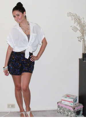 Forever 21 shorts - Forever 21 blouse