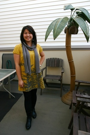 Christina Jacobs dress - Sharon Brunsher scarf - H&M shoes