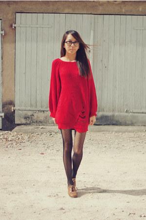red wool romwe jumper