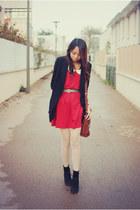 AsianICandy dress - dotted romwe tights - heart AsianICandy belt