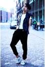 White-asos-sneakers-black-topshop-pants