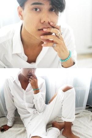 white asos jeans - white H&M shirt