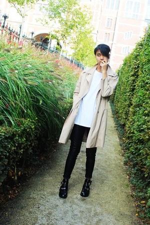 beige asos jacket - black jessicabuurman shoes - black H&M pants