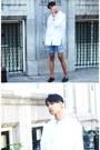 Crimson-zara-shoes-white-asos-shirt-blue-asos-shorts