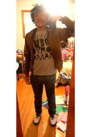 American Apparel jacket - Old Navy shirt - BDG pants - Vans shoes