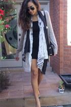 black H&M dress - really a sarong souvenir scarf - Ray Ban sunglasses - tan gorg
