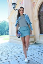 light blue style moi jacket