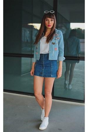 light blue AmiClubWear jacket - navy AmiClubWear skirt