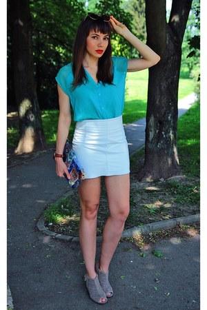 aquamarine Bershka blouse