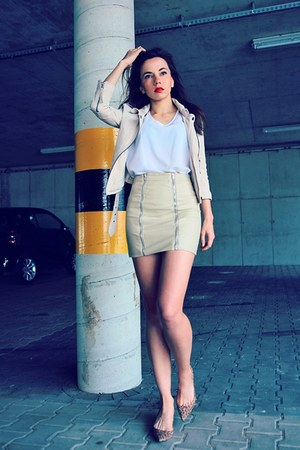 beige StyleMoi skirt