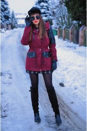 crimson BonPrix jacket - black Yoins skirt