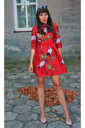 red VIPshop dress