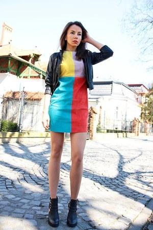 Front Row Shop dress - black Bershka jacket
