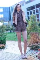 camel Newdress jacket - dark brown Newdress gloves