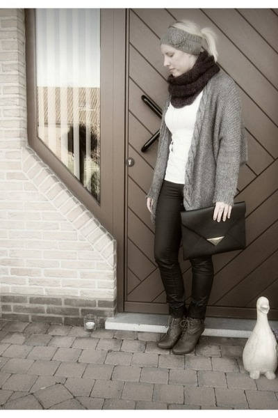 H&M bag - H&M cardigan - vera moda pants