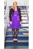bubble gum Kron by Kron Kron shoes - purple Coast dress - black random brand jac