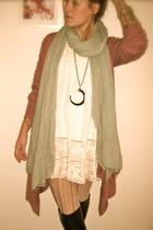 Pili &Mili jacket - H&M scarf - pili&mili dress - hakei boots