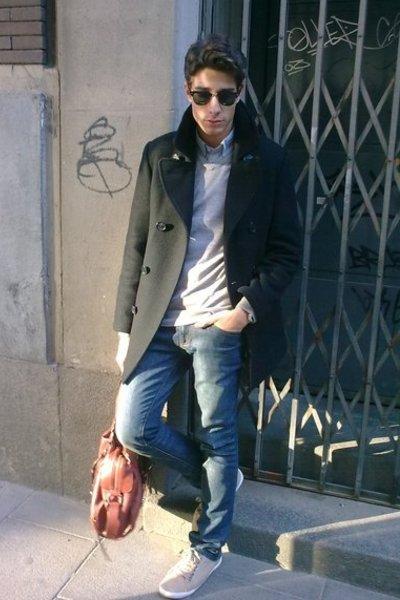 H&M coat - Zara sweater - Zara jeans - Zara shoes - Zara shirt - Mango purse