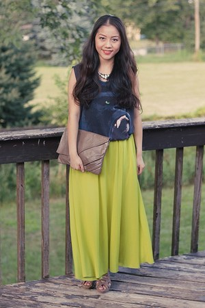 From China skirt - Thrift Store bag - Forever 21 top - from Korea heels