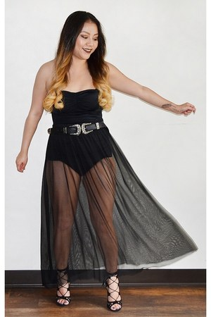 black pin up modcloth swimwear - black boutique belt