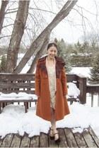 light pink blazer - ivory flea market dress - tawny diy lace coat thrift coat