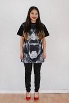 black gorilla LATHC t-shirt - black jeggings Target leggings