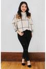 Silver-chicwish-sweater-black-clutch-bebe-purse