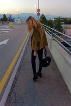 black Jeffrey Campbell shoes - black Dr Denim jeans - black Chanel bag - brown s
