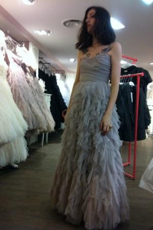 silver NafNaf dress