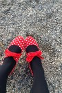 Red-polka-dots-head-over-heels-by-dune-shoes-floral-dress-nd3-dress